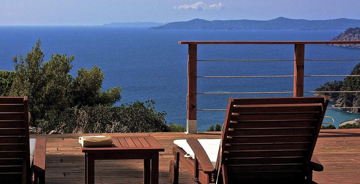 Villa Viala grande terrasse avec vue sur la mer