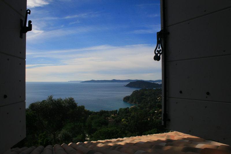 Villa Viala Vue sur la baie du Rayol depuis les chambres